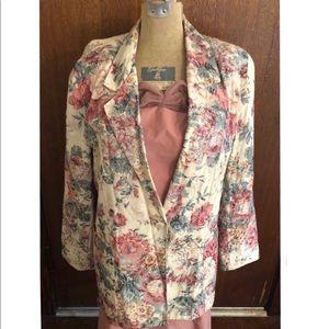Vintage floral blazer.